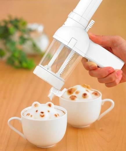 Para hacer un latte en 3D