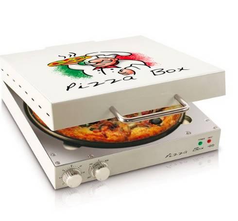Calentador de pizza en forma de caja para pizza