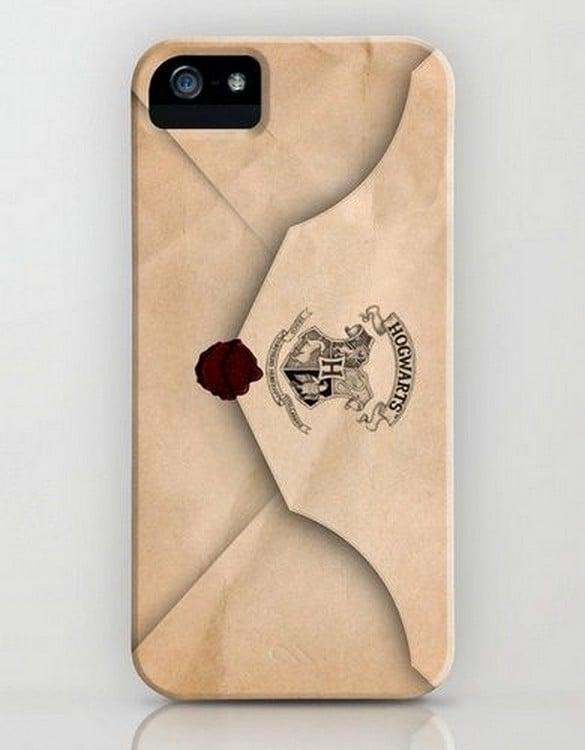 Carcasa de una carta de Hogwarts