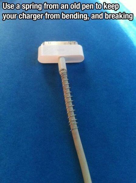Cargador de iPhone con un espiral