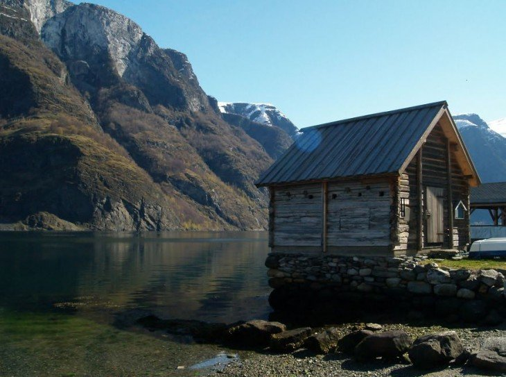 Fisherman Hut, Undredal, Noruega