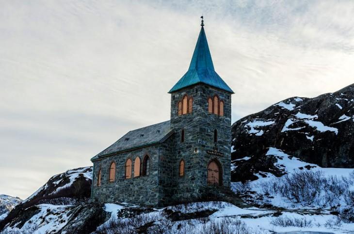 Capilla del Rey Oscar, frontera Jakobselv, Noruega