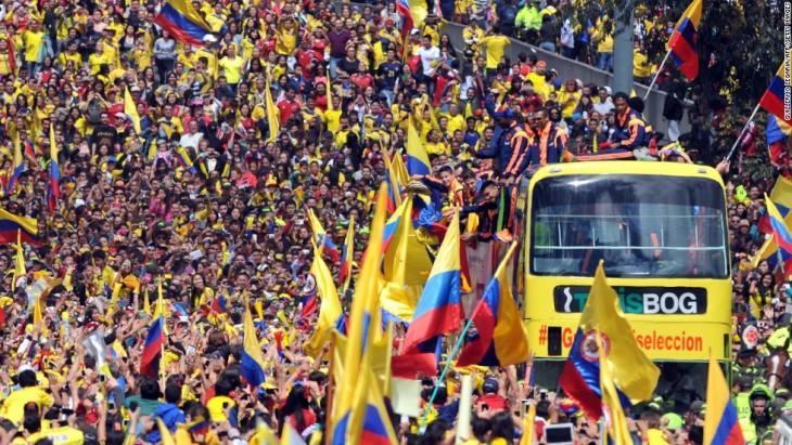 festejos porque gano la selección colombiana de futbol