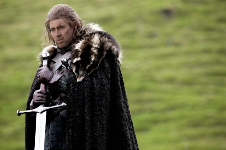 Eddard Stark con la cara de Nicolas Cage