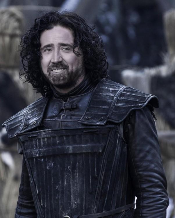 Jon Nieve con la cara de Nicolas Cage