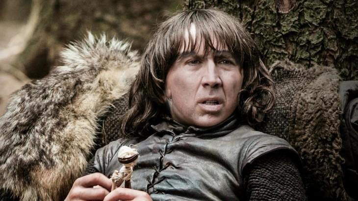 Bran Stark con la cara de Nicolas Cage