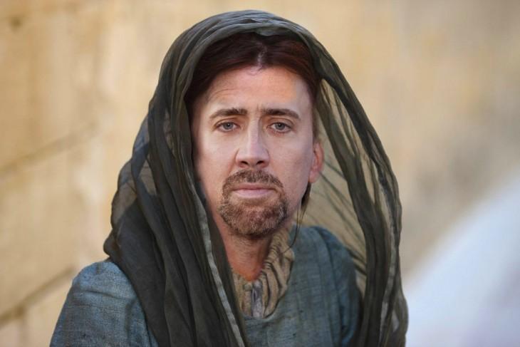 Catelyn Tully Stark con la cara de Nicolas Cage