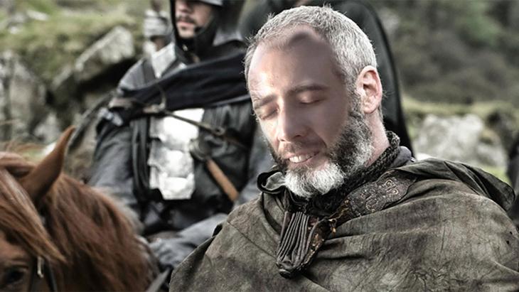 Davos Seaworth con la cara de Nicolas Cage
