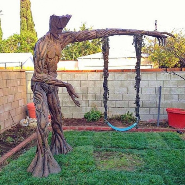Balançar a forma do personagem Groot em Star Wars