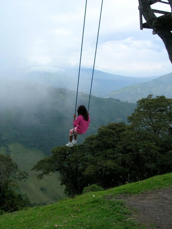 Columpio fin del mundo en Ecuador