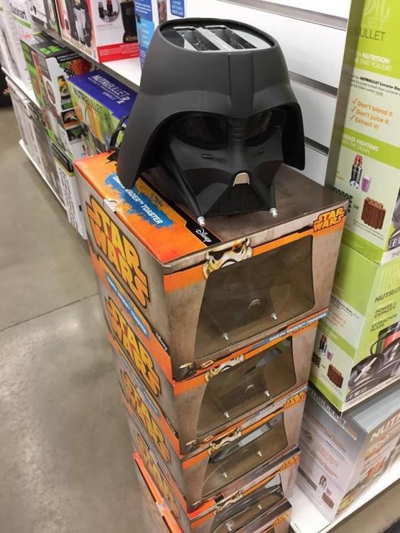 tostadora con la forma del casco de Darth Vader