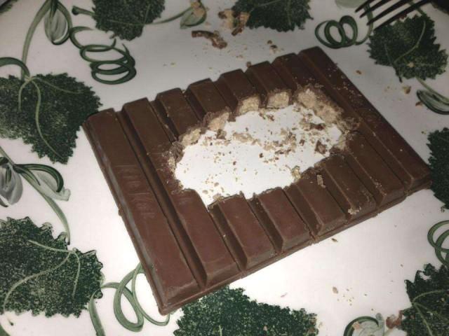 Chocolate con un agujero en medio