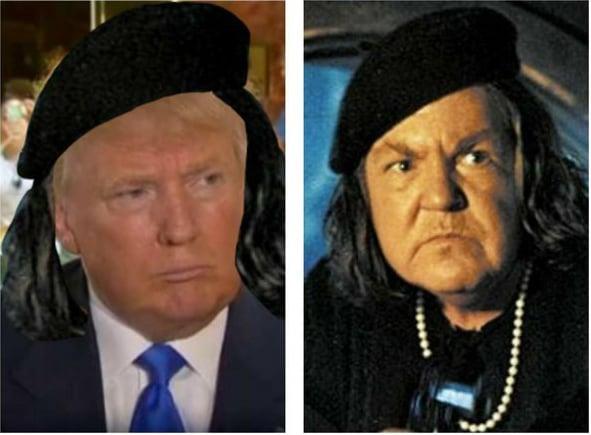 Donald Trump y la malvada mujer de los Gonnies