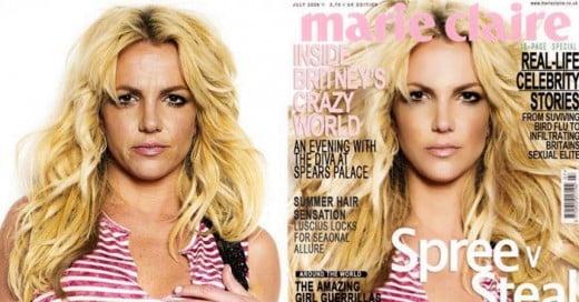 El gran milagro de photoshop, como transforma de una manera dramática el aspecto real de los famosos