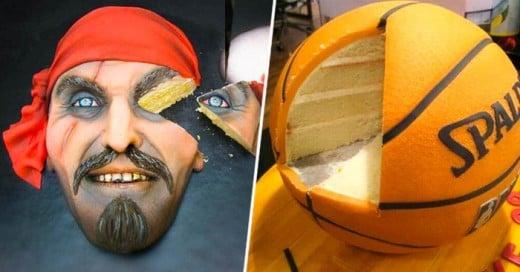 Lo veo y no lo creo! unos pasteles super realistas lastima...