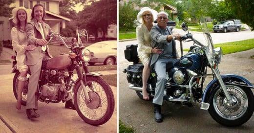Un usuario de Reditt y sus hermanos decidieron celebrar el 40 aniversario de bodas de sus padres de una forma que se ha vuelto moda entre los usuarios de las diversas redes sociales. Sí... recrearon las fotos de su boda en 1975.