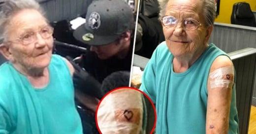 Una abuelita muy rebel de de estas abuelitas deben existir mas!