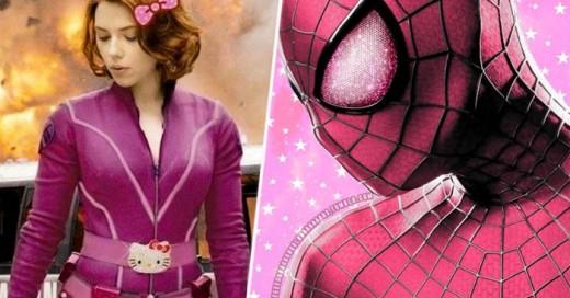 La nueva tendencia rosa ha llegado hasta nuestros super heroes