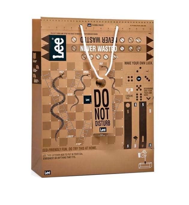 bolsa de carton para la marca lee
