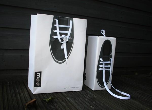 Diseños de bolsas de los zapatos moo