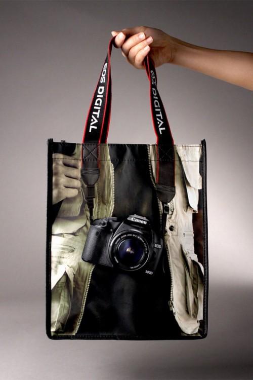 Bolsa de diseño de una cámara fotográfica Cannon