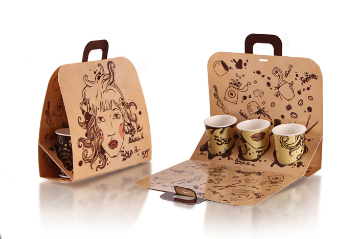 Diseño creativo para llevar el café