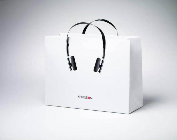 con diseño de audífonos Kebec Son