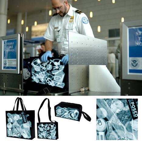 bolsa de rayos x que muestra lo que trae dentro