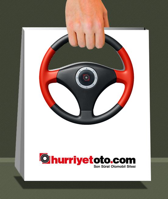 Bolsa con un volante de Hurriyetoto.com