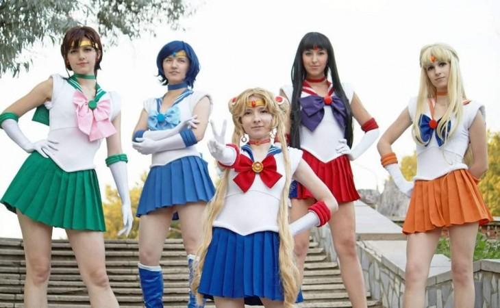 Chicas disfrazadas de los personajes de Sailor Moon