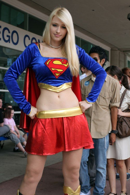 Expectativa del cosplay de superchica