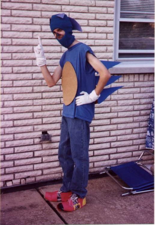 realidad del cosplay fallido de un chico como Sonic