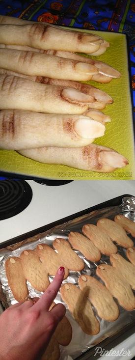 Pastelillos en forma de dedos