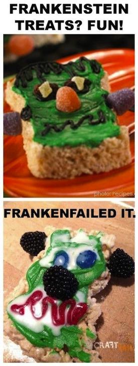 Pastelillo en forma de la cara de Frankie Eisten