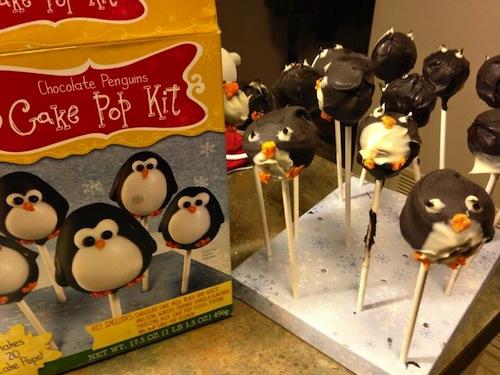 Paletas con forma de pingüino