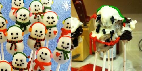 paletas de muñecos de nieve