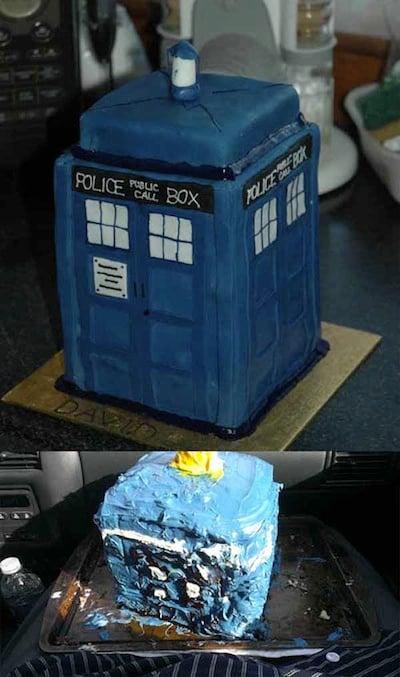 pastel en forma de caseta de policía