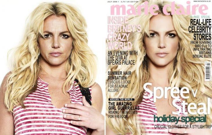 Britney Spears en la portada de una revista