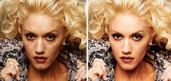 Gwen Stefany con photoshop