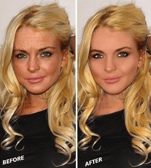 Lindsay Lohan con photoshop