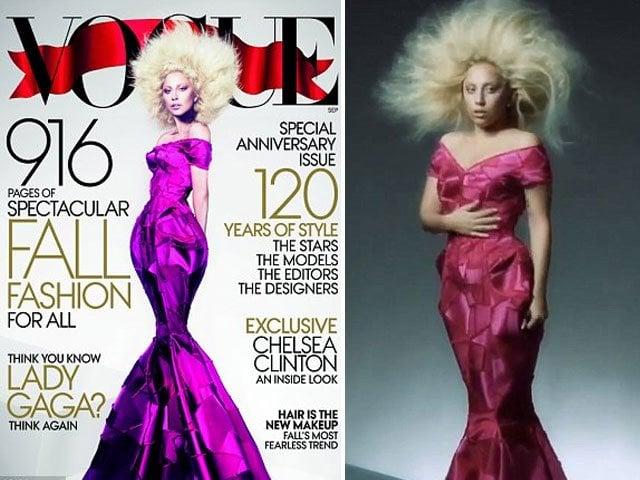 Lady Gaga en sesión para la portada de la revista VOGUE