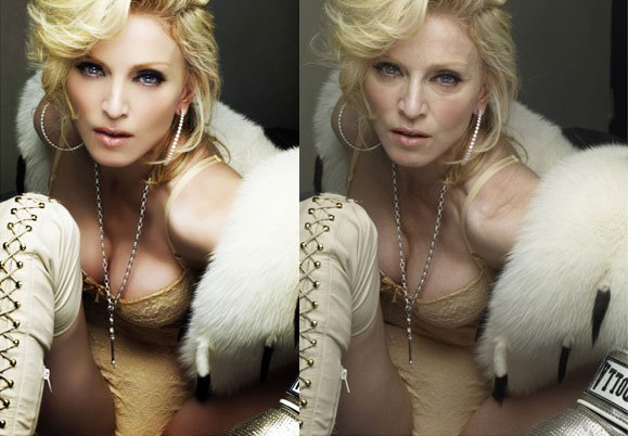 Madonna sin photoshop
