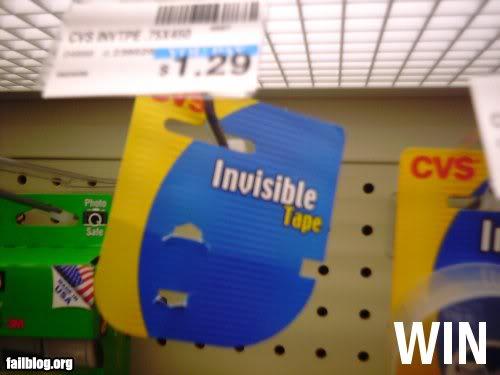 Empaque de una cinta invisible
