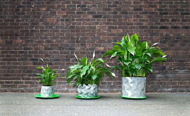 Growth, la maceta de origami que crece a la par de tu planta