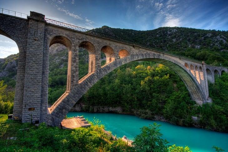 Puente Solkan, Eslovenia