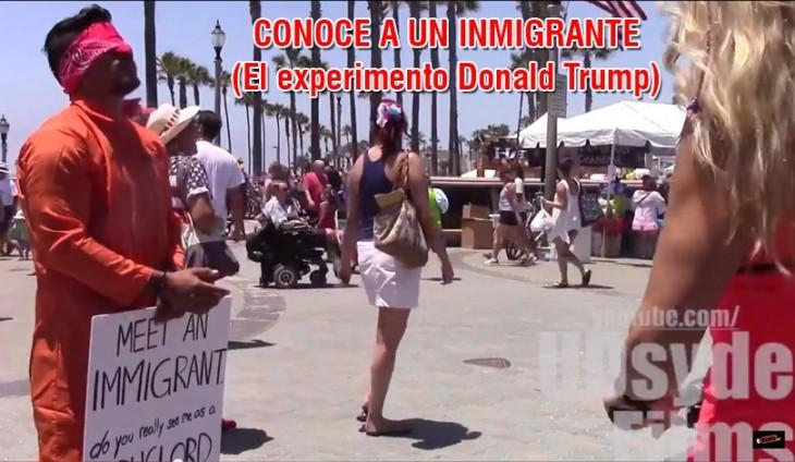 Inmigrante hace un vídeo conocido como Experimento Donald Trump