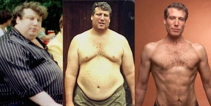 Fotografías del proceso de pérdida de peso de Jon Gabriel, el creador del método para bajar de peso sin dietas