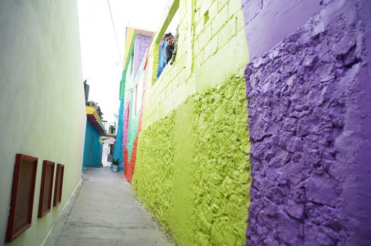 Callejón dentro de la colonia Palmitas de Pachuca