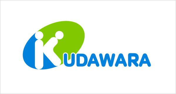 logotipo de una farmacia llamada Kudawara