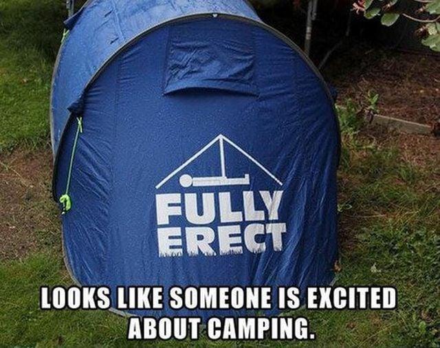 casa de campaña Fully Erect en el bosque